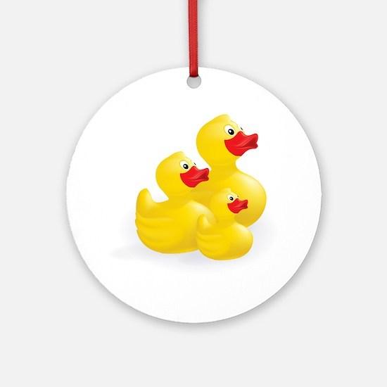 Trio of Ducks Ornament (Round)