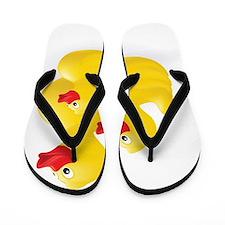 Trio of Ducks Flip Flops