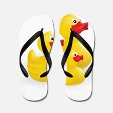 Trio of Ducks Flip Flops