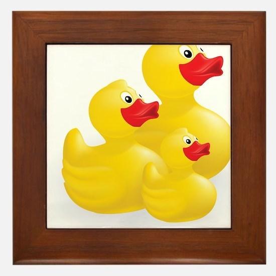 Trio of Ducks Framed Tile