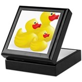 Rubber ducky Square Keepsake Boxes