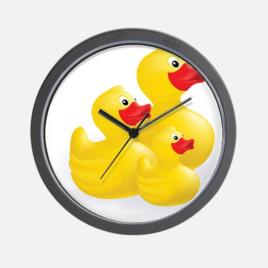 Trio of Ducks Wall Clock