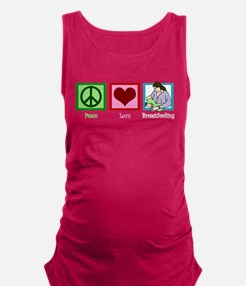 Peace Love Breastfeeding Maternity Tank Top
