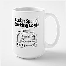 Cocker Spaniel Logic Large Mug