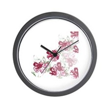 Cute Green purple Wall Clock