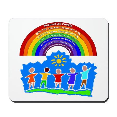 Rainbow Principles Kids Mousepad