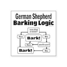 "German Shepherd Logic Square Sticker 3"" x 3"""