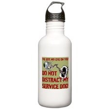 SERVICE DOG WARNING! Water Bottle