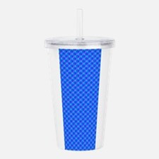 Blue Dots Patterned Acrylic Double-Wall Tumbler