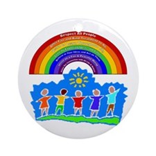 Rainbow Principles Kids Ornament (Round)