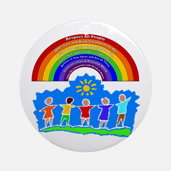Rainbow Principles Kids Ornament (Round)