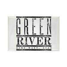 River Running Rectangle Magnet