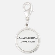 Personalized Wedding Name Date Charms