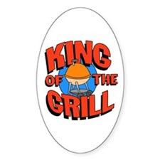 King of the Grill<br> Oval Decal