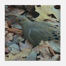 Autumn Dove Tile Coaster