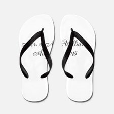 Personalized Wedding Name Date Flip Flops