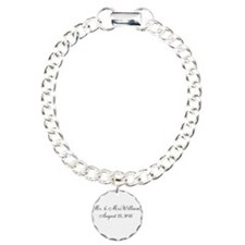 Personalized Wedding Name Date Bracelet