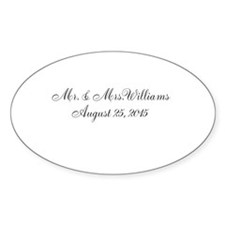 Personalized Wedding Name Date Decal