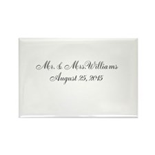 Personalized Wedding Name Date Magnets