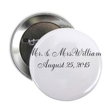 "Personalized Wedding Name Date 2.25"" Button (10 pa"