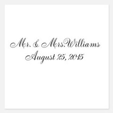 Personalized Wedding Name Date Invitations