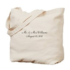Personalized Wedding Name Date Tote Bag