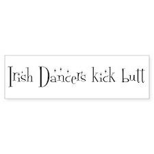 Irish Dancers kick butt Bumper Car Sticker
