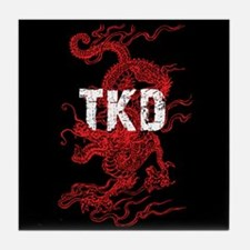 Tkd Dragon Tile Coaster