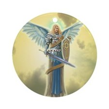 Angel Michael Ornament (Round)