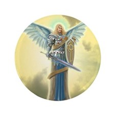 """Angel Michael 3.5"""" Button (100 pack)"""