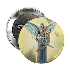 "Angel Michael 2.25"" Button"