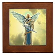 Angel Michael Framed Tile