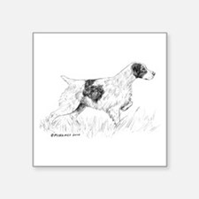 "Brittany Spaniel Square Sticker 3"" x 3"""