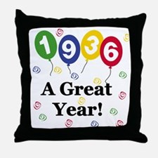 1936 A Great Year Throw Pillow
