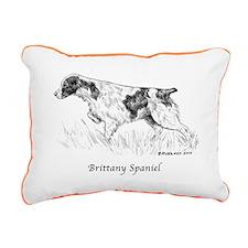 Brittany Spaniel Rectangular Canvas Pillow