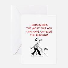 horseshoes Greeting Cards