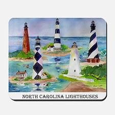 NC Light houses Mousepad