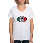 Mexico Colors Women's V-Neck T-Shirt