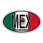 Mexico Colors Oval Sticker