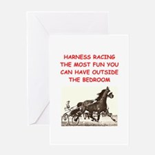 harness racing Greeting Cards