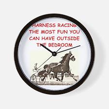harness racing Wall Clock