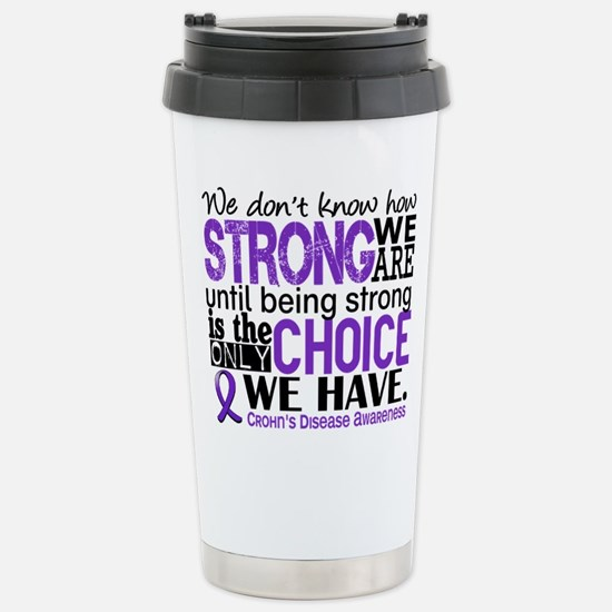 Crohn's HowStrongWeAre Stainless Steel Travel Mug