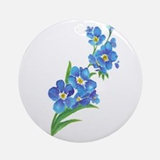 Forget Me Not Flower Watercolor Painting Ornament