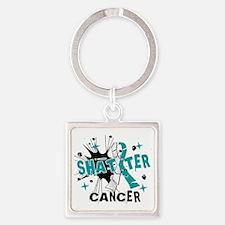 Shatter Cervical Cancer Square Keychain