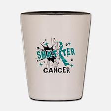 Shatter Cervical Cancer Shot Glass