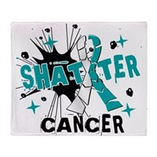 Shatter Cervical Cancer Throw Blanket