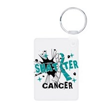 Shatter Cervical Cancer Aluminum Photo Keychain