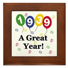 1939 A Great Year Framed Tile