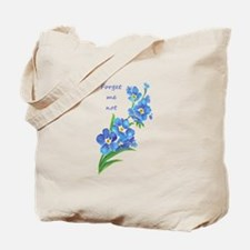 Forget-Me-Not Watercolor Flower & Quote Tote Bag