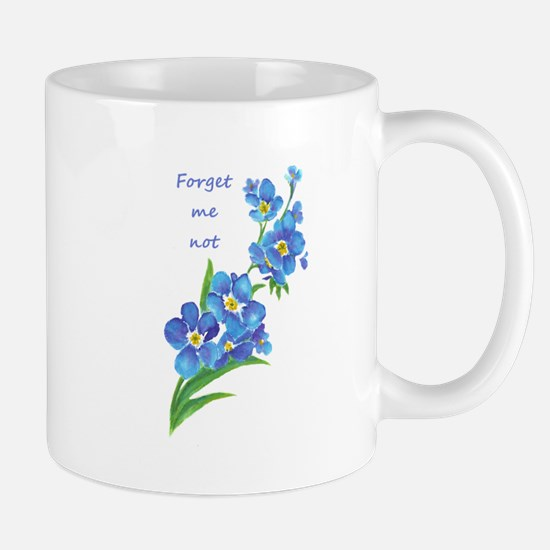 Forget-Me-Not Watercolor Flower & Quote Mugs